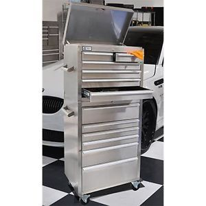 """27"""" ★ Heavy Duty Professional Grade SS201 Stainless Steel Rolling Tool Chest"""
