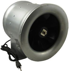 """12"""" inch 1880CFM Inline Exhaust Duct Booster Fan Blower Heating Cooling Air Vent"""