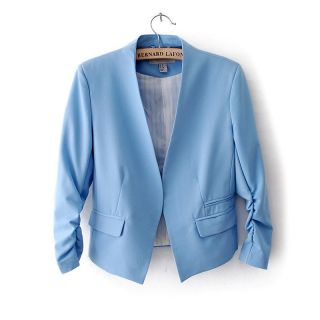 New Fashion Korea Women's Solid Candy Color Slim Suit Blazer Coat Jacket s M L