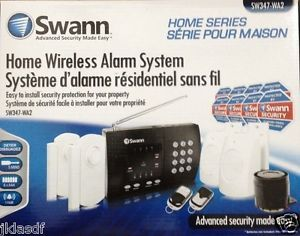 Swann Home Wireless Alarm Security System SW347 WA2 Remote Control PIR Motion