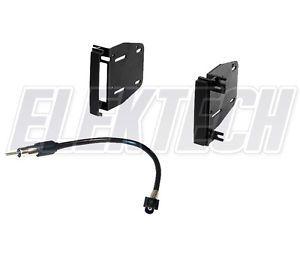 Dodge RAM 2009 2012 Radio Stereo Dash Mounting Kit Antenna Adapter Double DIN