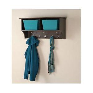 Wall Mount Entryway Organizer Mirror Hallway Coat Rack Key Cabinet