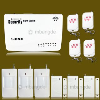433MHz Wireless Home Burglar GSM Alarm Auto Dialer Voice 4 Bands Security System