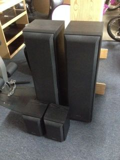 Pair Sony SS F5000 Home Audio Stereo Floor Standing Tower 3 Way Speakers 8OH