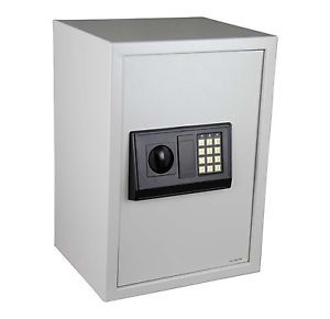 Digital Electronic Safe Safety Security Lock Box for Home Office White 35W