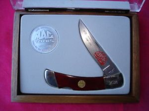 Mac Tools 58th Anniversary Presentation Folding Knife with Case Bear Knife
