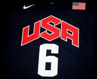 Nike Lebron James USA Basketball Jersey T Shirt Cap London Olympics Mens M