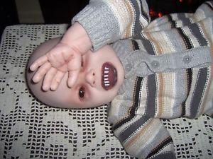 Gothic Black Eyed Vampire Demon Baby Horror Doll