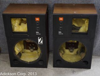 2 JBL 4425 Speaker Housings with Crossovers