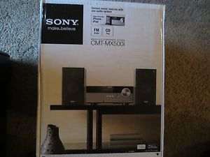 Sony CMT MX500I CMTMX500I iPod iPhone Speaker Dock Desktop Micro Shelf System