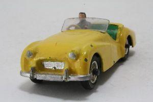 Dinky Toys 105 Triumph TR2 Lemon Green Seats Spun Hubs Repainted