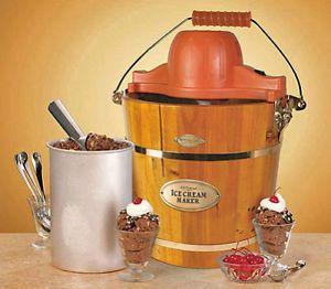 Homemade Ice Cream Maker Machine Icmw 400 Wooden Bucket