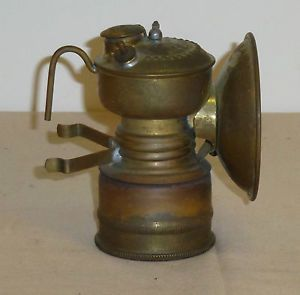 Grier Gee Bee Carbide Miners Hand Lamp Unfired Original Box w Inst 8 Languages