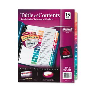 Avery ready index template 600087 bing images for Avery table of contents template 15 tab