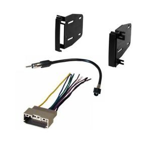 Double DIN Dash Radio Stereo Installation Kit Wire Harness Antenna Adapter