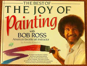 Bob Ross The Joy of Painting Book with Step by Step Instructional Photographs