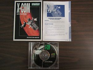 X com UFO Defense PC Game Dos 1994 CD ROM Instructional Technical Manual