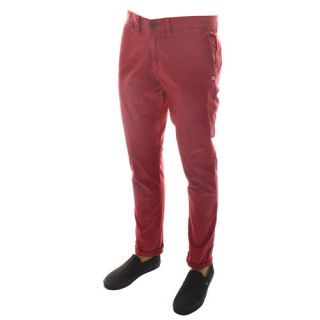 Quiksilver The Summer Krest Mens Chino Pants Red Pant Sangria All Sizes