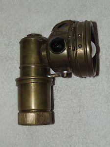 Antique Motorcycle Bicycle Bike Brass Carbide Lamp Light Lantern Hawthorne Mfg