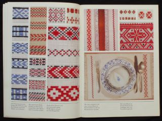 Book Slovak Embroidery Patterns Traditional Folk Art Tablecloth Design Peasant