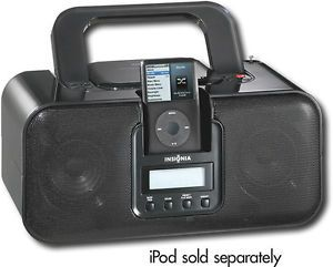 Insignia Boombox CD Player with Am FM Radio iPod iPhone Dock Station Speaker Aux