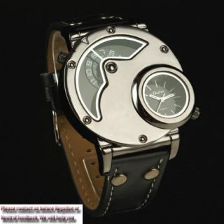 New Cool Dual Time Russian Army Military Quartz Sports Mens Wrist Watch Gift