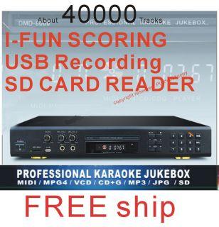 MIDI Karaoke DVD Player Machine 2MICS Karaoke System with Songs