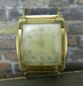 Vintage Benrus Ba 4 17 Jewel Watch in 10K Rolled Gold Case