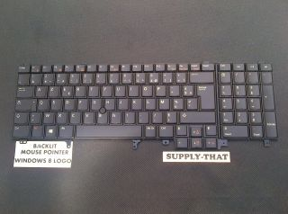 E6520 E6530 Dell Latitude French Backlit Keyboard with Keyboard Mouse Windows 8