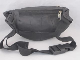 Fanny Pack Kids Boys Girls Cute Genuine Leather Black