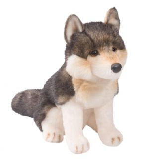 Douglas Cuddle Toys 11'' Plush Atka Sitting Wolf New