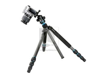 "Beike BK 474 Carbon Fiber Tripod with Ball Head Carrying Bag 3 8"" Thread Screw"