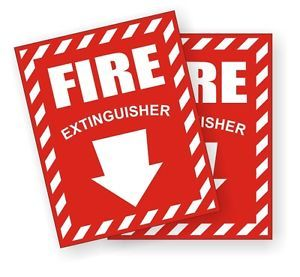 2 Fire Extinguisher Safety Decals Stickers Industrial Business Labels
