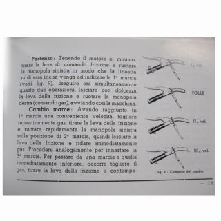 1953 Vespa 125 Owners Manual in Italian