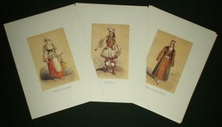 Book Greek Folk Costume 19th C Ethnic Dress Balkan Fashion Soldier Peasant Monk