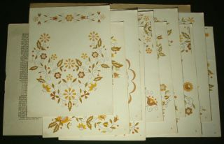 Hand Embroidery Pattern Folio Polish Folk Design Ethnic Floral Motifs Poland Art
