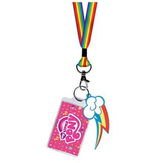 My Little Pony Rainbow Dash Lanyard Key Chain Kawaii MLP Friendship Is Magic FIM