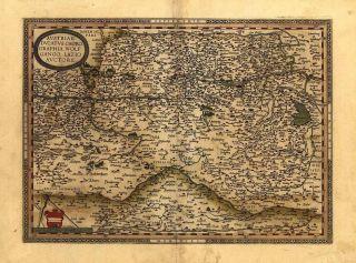 Large A1 Size Abraham Ortelius Austria Old Antique Map
