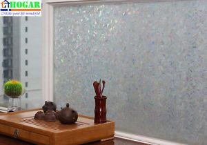 Privacy 3D Laser Decorative Stained Glass Window Film 3 ft x 9 ft Feet GW507A