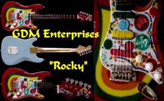 Beatles George Harrison Big Miniature 14 inch Rocky Guitar