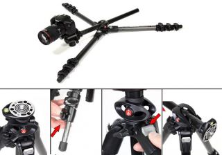 Manfrotto 055CXPRO4 4 Section Carbon Fiber Tripod Legs Black EMS Fast Shipping 719821292470