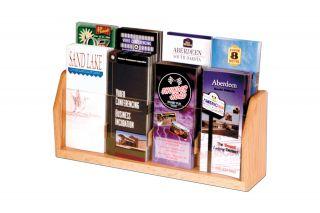 Wooden Mallet Countertop 8 Pocket Brochure Holders Display Rack