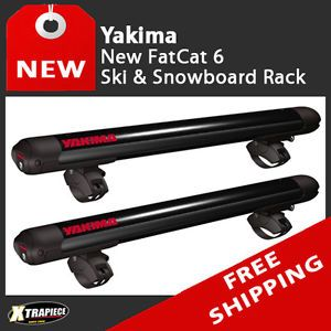 Yakima FatCat 6 Universal Ski Snowboard Carrier Roof Rack Mount with Locks