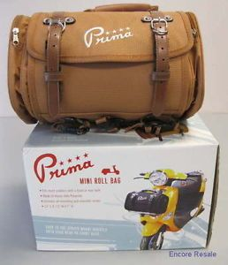 New Prima Mini Roll Vespa Scooter Luggage Bag Brown 0400 1024