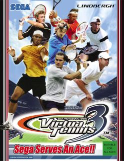 Arcade Sega Professional Tennis Virtua Tennis 3 Huge Screen Very Free Shipping