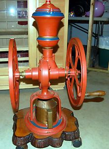 Antique Fairbanks Morse Co Chicago Floor Coffee Grinder Mill Late 1800'S