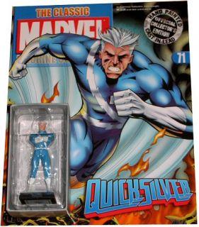 71 Quicksilver Figura PLOMO Pinta Mano Marvel Figurine