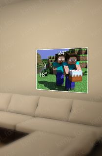 Minecraft PC Xbox Game Poster Print 24x18 Steve Herobrine Cake USA New