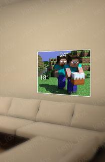 Minecraft PC Xbox Game Poster Print 24x18 Steve Herobrine Cake USA New