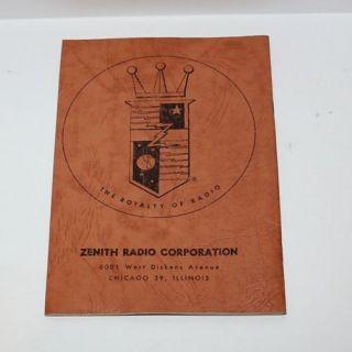 Zenith Trans Oceanic Radio Model G500 Operating Guide